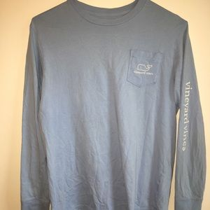 Light blue vineyard vine long sleeve
